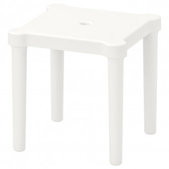 IKEA UTTER Taburet pentru copii, interior/exterior, alb