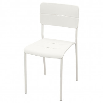 IKEA VADDO Scaun exterior, alb
