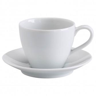 IKEA VARDERA Cana cafea si farfurie, alb, 20 cl