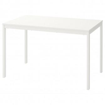 IKEA VANGSTA Masa extensibila, alb, 120/180x75 cm