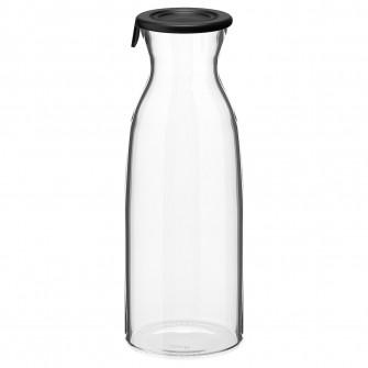 IKEA VARDAGEN Carafa cu capac, sticla transparenta, 1.0