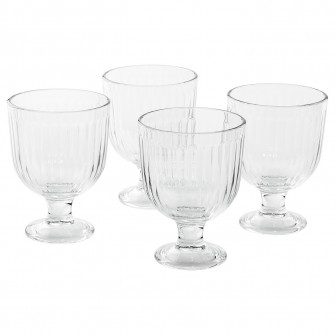IKEA VARDAGEN Pahar cu picior, sticla transparenta, 28