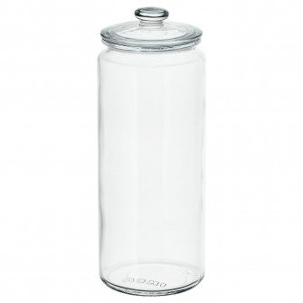 IKEA VARDAGEN Borcan cu capac, sticla transparenta, 1.8