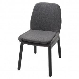 IKEA VEDBO Scaun, negru, Gunnared gri inchis