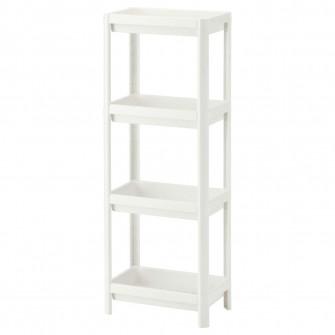 IKEA VESKEN Etajera, alb, 36x23x100 cm