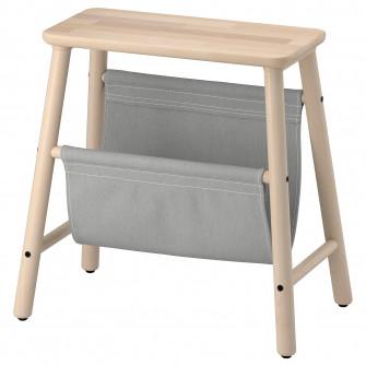 IKEA VILTO Taburet spatiu depozitare, mesteacan, 45 cm