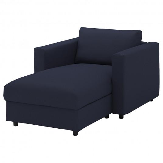 IKEA VIMLE Sezlong, Orrsta negru-albastru