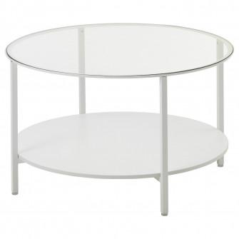 IKEA VITTSJO Masuta cafea, alb, sticla, 75 cm
