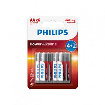Pile electrice Philips LR6P6BP alcaline