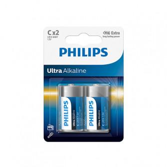 Pile electrice Philips LR14/ C ULTRA alcaline
