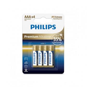 Pile electrice 4 buc Philips PREMIUM ALKALINE metal
