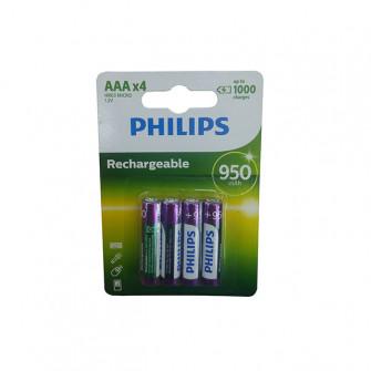 Pile electrice 4 buc Philips MULTILIFE 950 mAh metal