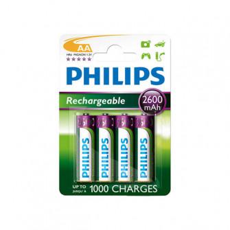 Pile electrice 4 buc Philips MULTILIFE 2600 mAh metal