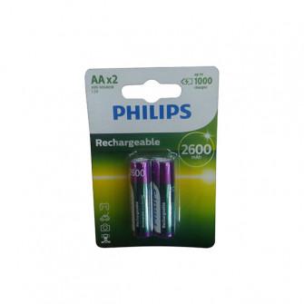 Pile electrice 2 buc Philips MULTILIFE 2600 mAh metal