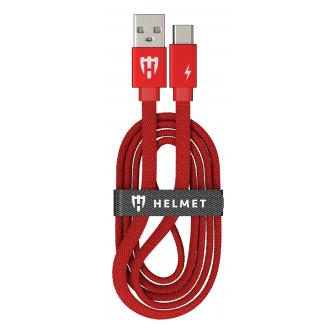 HELMET Kevlar Flat Type C Cable - 1m, Red