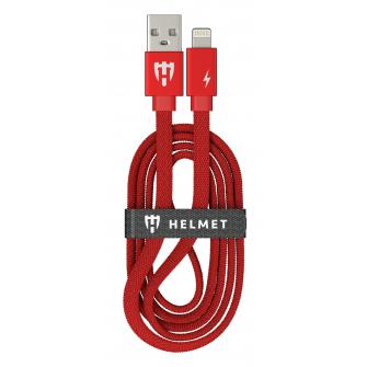 HELMET Kevlar Flat Lightning Cable - 1m, Red