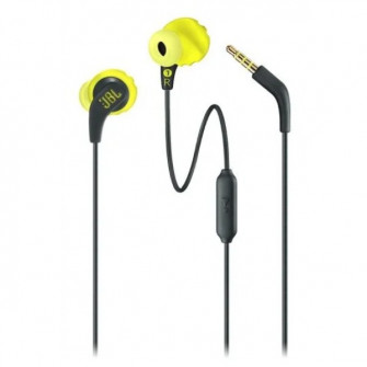 Earphones JBL  Endurance RUN, Yellow/Black, IPX5 (sweat