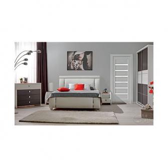 Dormitor Cristal 160 (alb)