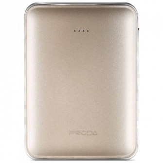 Proda Mink Power Bank, 5000mAh, Gold