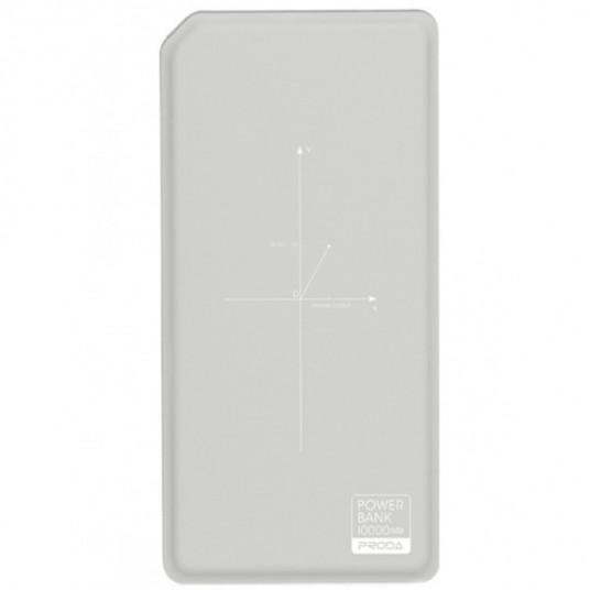 Proda Chicon Wireless Power Bank, 10000mAh, Gray