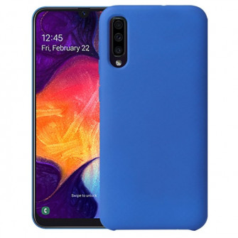 Helmet Liquid Silicon Case Samsung A50  Blue