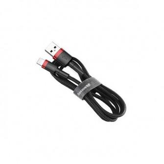 Cablu Baseus Cafule CALKLF-B19 USB to Lightning, Black/