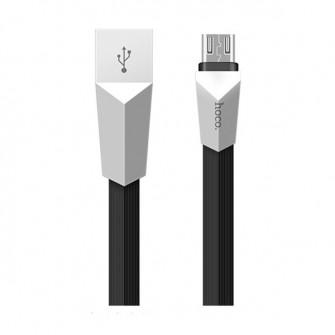 Cablu Hoco X4 Zinc Alloy rhombus (6957531041955) microU