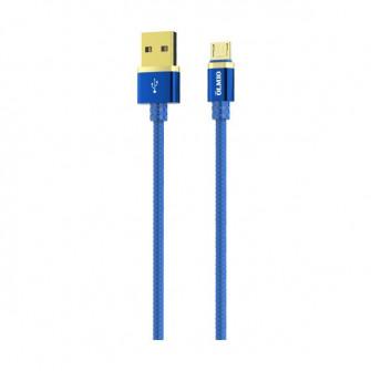 Cablu OLMIO DELUXE, USB 2.0 - microUSB, 1м, 2.1A, Blue