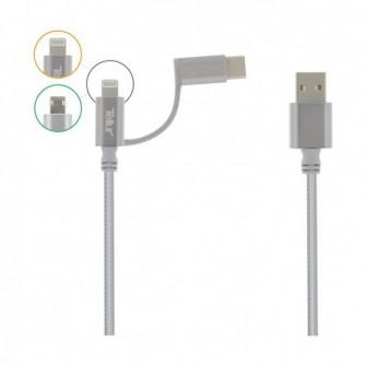 Cablu Tellur 3 in 1 (TLL155191) microUSB & lightning +
