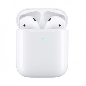 Set cu casti Apple AirPods 2 with Wireless Charging Cas