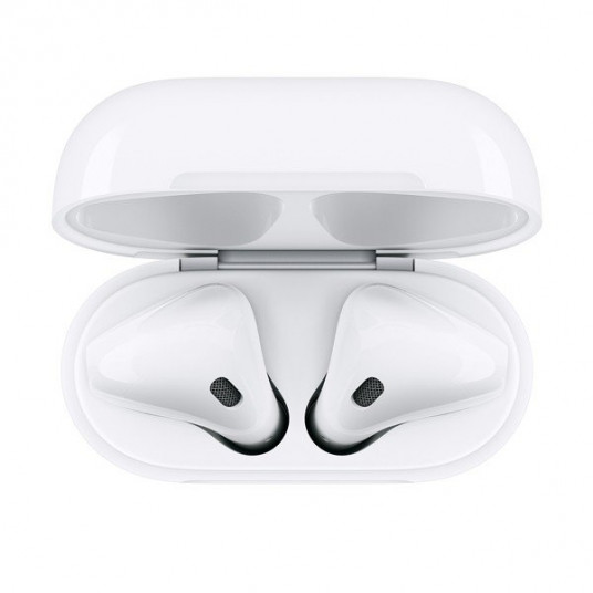 Set cu casti Apple AirPods 2 with Wireless Charging Case, White