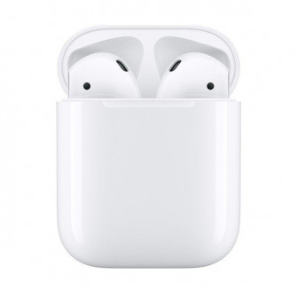 Set cu casti Apple AirPods 2 with Charging Case, White
