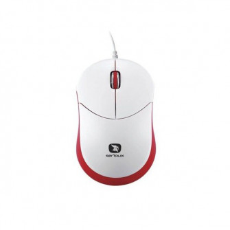 Mouse Serioux Rainbow 680, Red