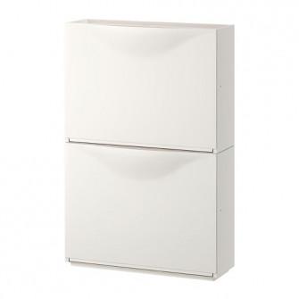 IKEA TRONES Dulap pantofi/depozitare, alb, 52x39 cm