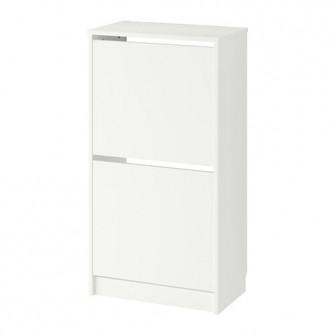 IKEA BISSA Dulap pantofi cu 2 compartimente, alb, 49x93