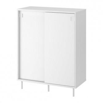 IKEA MACKAPAR Dulap pantofi/depozitare, alb, 80x102 cm