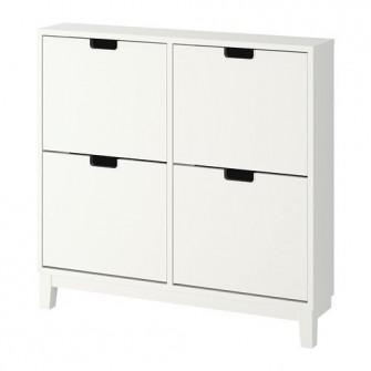 IKEA STALL Dulap pantofi cu 4 compartimente, alb, 96x90