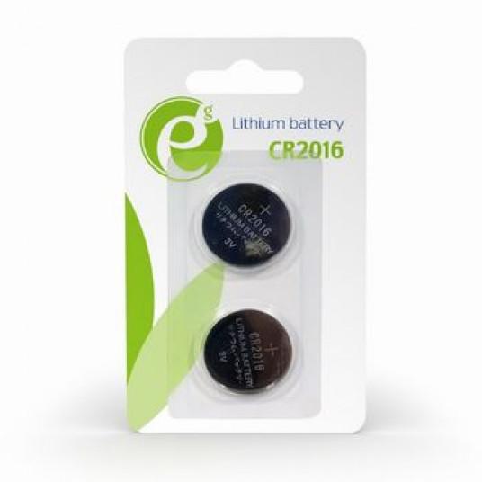 Gembird  Button cell CR2016, 2pcs, High performance and long lifetime
