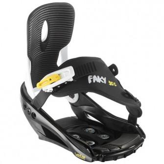 Legaturi Snowboard Faky 300 Negru/ Galben/ Alb Copii