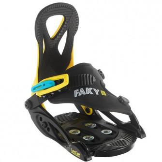 Legaturi Snowboard Faky 100 Negru/ Galben/ Albastru Cop