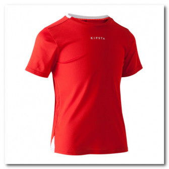 Tricou Fotbal F100 Rosu Copii