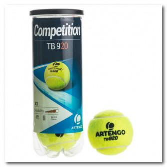 Set 3 Mingi Tenis TB920 Galben