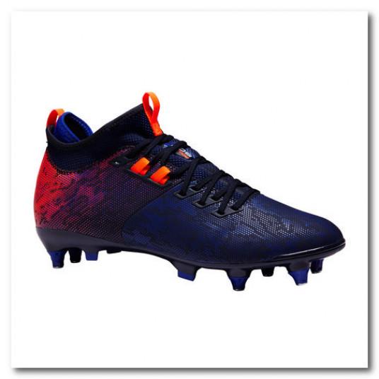Ghete Mid Fotbal Agility 900 SG Albastru/Portocaliu Adulti