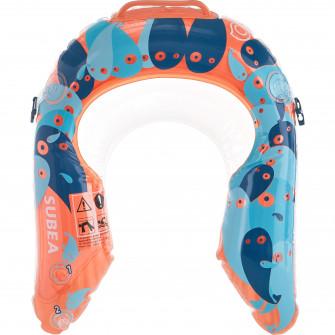 Accesoriu observare snorkeling Olu 120 Albastru/Portoca