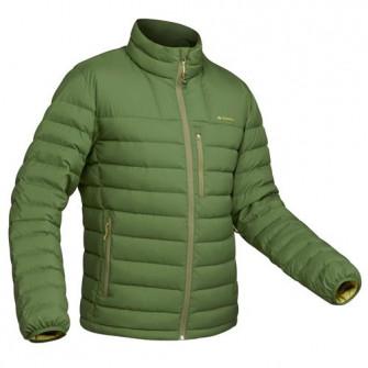Geaca pufTrekking la Munte Trek500 verde Barbati