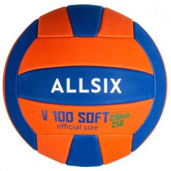 Minge Volei Soft V100 230-250g Portocaliu/Albastru. Uti