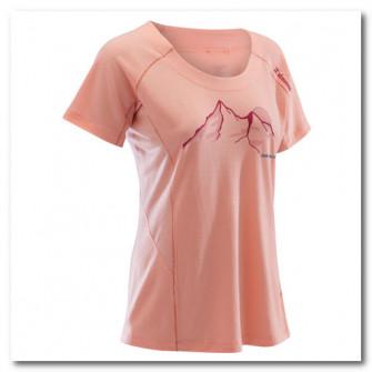 Tricou lana Merinos escalada roz Dama