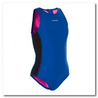 Costum Intreg water polo 500 Albastru Fete