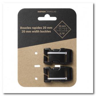 Set de 2 catarame rapide pentru rucsac de 20 mm