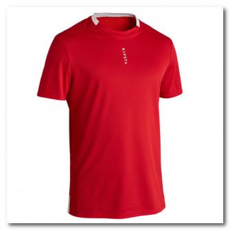 Tricou Fotbal F100 Rosu Adulti